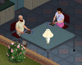File:Ts1 Bob and Betty Newbie eating dinner.png