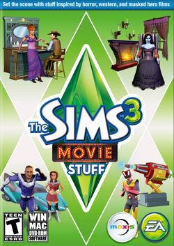The Sims 3 Movie Stuff Cover