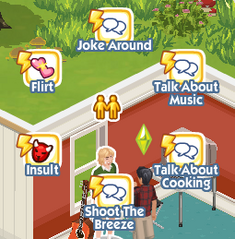 The Sims Social Pie Menu