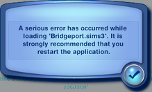 TS3 Load game error