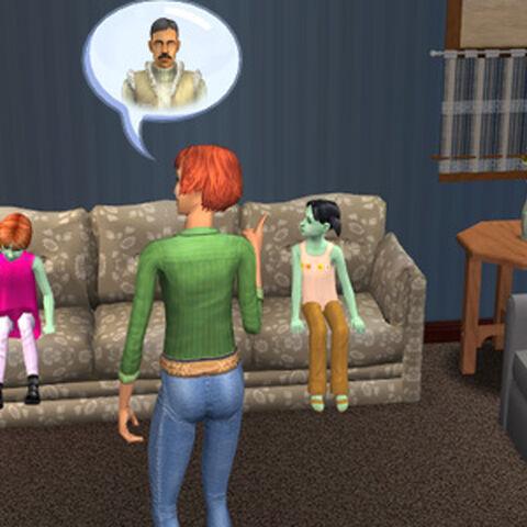 Глэйб разговаривает с девочками-близнецами о Гларине.