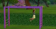 TS4 child playing on monkey bars