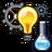 Icon invent cog bulb