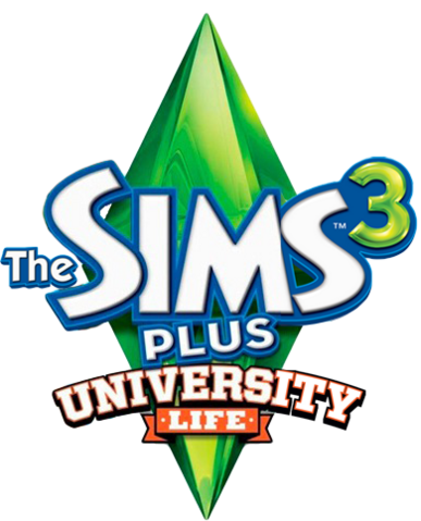 File:The Sims 3 Plus University Life Logo.png