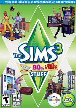 The Sims 3 Decades Stuff Cover