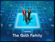 Loading screen of Goth family