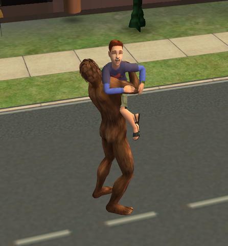 File:Bigfoot hugging a child.png