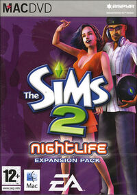 The Sims 2 Nightlife Cover Mac