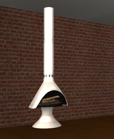 Ts2 red ember freestanding fireplace