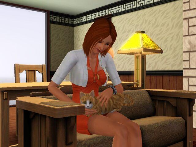 File:Cat and my sim.jpg