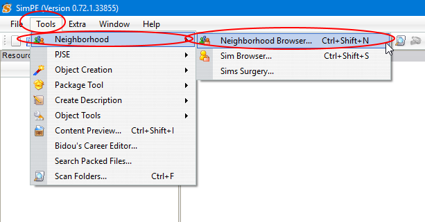 Renaming neighborhood folder simpe 1