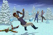 Sims1VacationSnowballFight