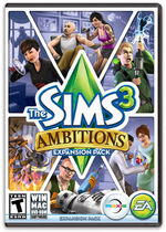 The Sims 3 Ambitions Cover