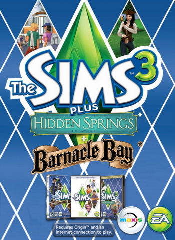 File:The Sims 3 Plus Hidden Springs and Barnacle Bay Cover.png