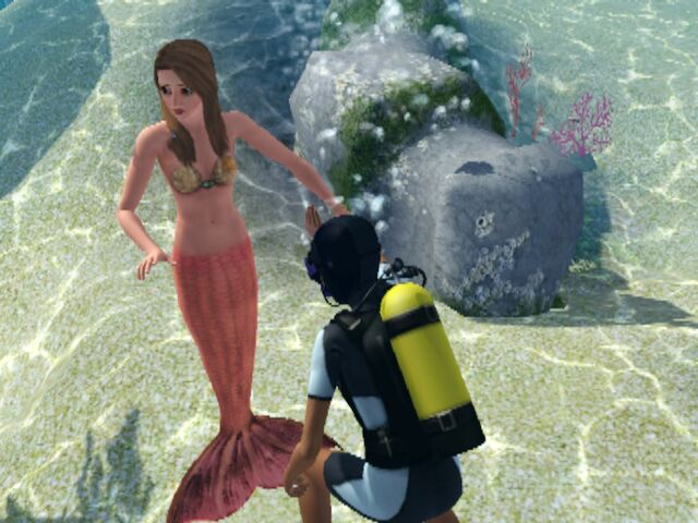 File:Diver are talking with a Mermaid....jpg