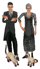 The Senior Goth family - The Sims