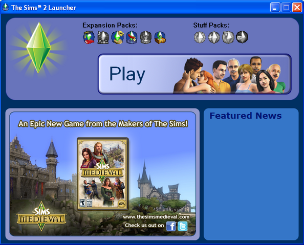 File:Launcher in The Sims 2.PNG