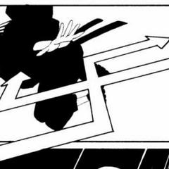 Miho attacks the mercenaries.