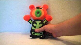 "2011 Sing-a-ma-jigs ""Trick or Treat"" Orange Skeleton Plush By Fisher Price"