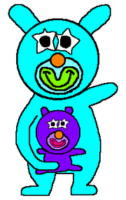 Turquoise with purple baby sing a ma jig duet