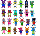 All of the fanmade sing a ma jigs