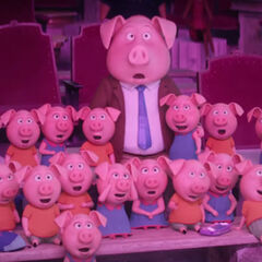 Norman and the piglets watch Rosita and <a href=