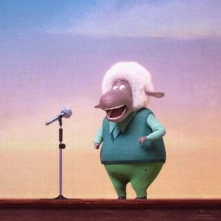 The sheep auditions to be part of the singing competition.