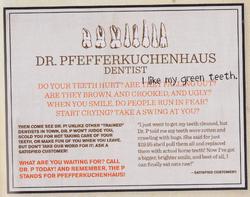 Frau Pfefferkuchenhaus Dentist