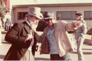 Gary Goddard on location with Phineas T. Flagg