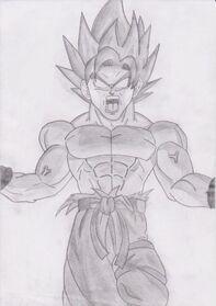 Goku false super saiyan dbz by joltkid-d3e1ylw