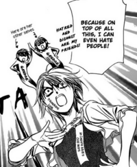 Kyoko is full of hatred