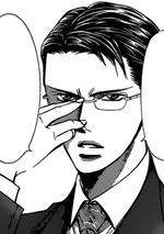 Toudou pushes his glasses