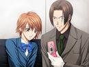 Yashiro with his cellphone with Kyoko PS2