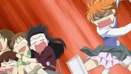 Kyoko cracks up the phone
