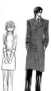 Ren and kyoko standing next to eahcother