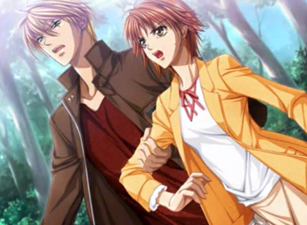 File:Sho and Kyoko in the forest PS2 Game.png