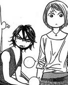 Murasame and manaka looking at the siblings