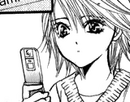 Kyoko looking at her phone