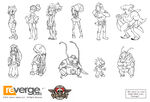 Skullgirls npc lineart by eyecager-d4weprc