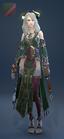 EnchantressRobe Costume Female Front Green