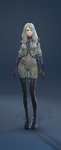 ChemicalProtectiveSuit Costume Female Front