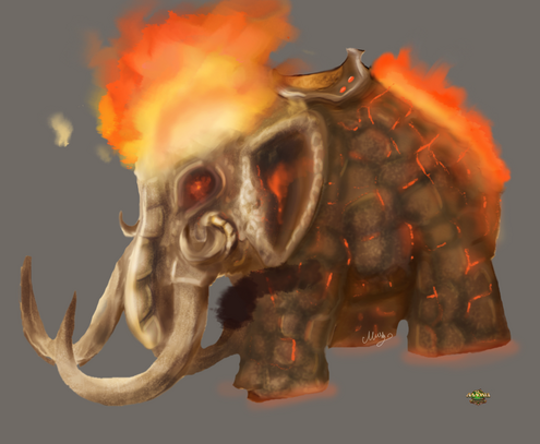 Elephant fire by mylittlegodzilla-d5jngeq