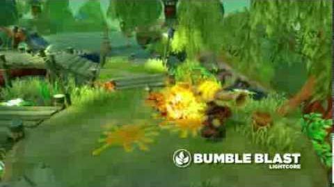 Meet the Skylanders LightCore Bumble Blast