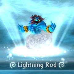 Lightning Rod entrando al portal