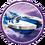 Power Blue Splatter Splasher Icon