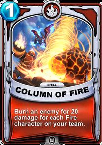 Column of Firecard