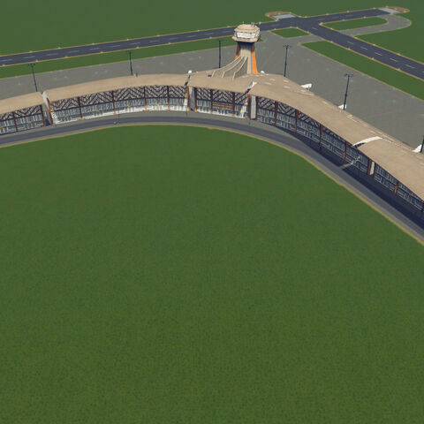 In-game international airport