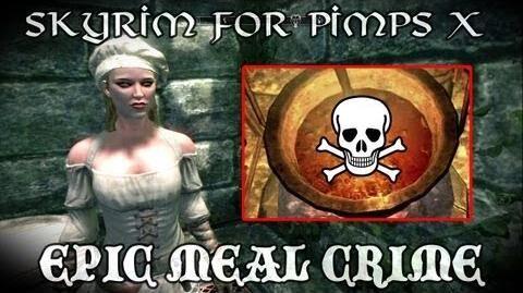 Skyrim For Pimps - Epic Meal Crime (S1E10) Dark Brotherhood Walkthrough-0