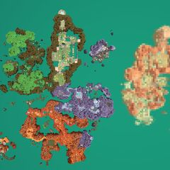 A size comparison of The Glass Desert to all of the other zones connected to The Ranch.