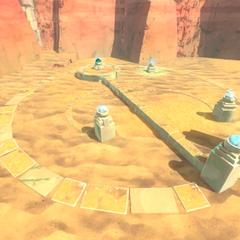 An odd circle in the Desert
